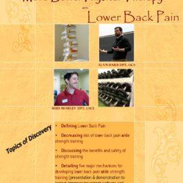 YMCA Presentation on Lower Back Pain